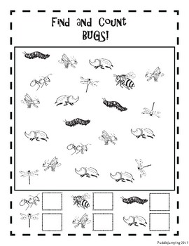 Fun with Bugs! Find and Count, Count and Color, Following Directions