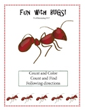 Fun with Bugs! Find and Count, Count and Color, Following