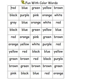 Fun with Color Words
