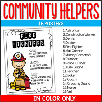 Fun with Communtiy Helpers {Posters & Booklet}