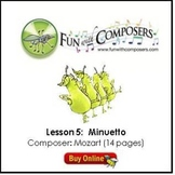 Fun with Composers - Minuetto (Composer: Mozart) Lesson Plan