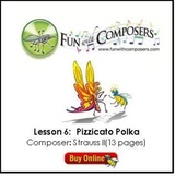 Fun with Composers - Pizzicato Polka (Composer: Strauss II) Lesson Plan