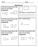 Fun with Congruent Shapes