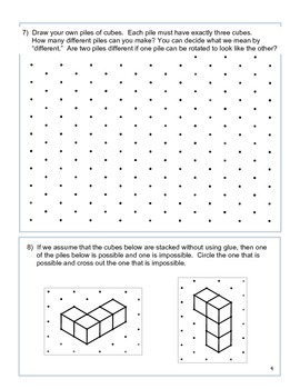Fun with Cubes and Spatial Thinking - free activity book