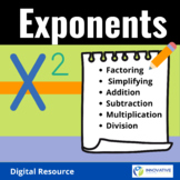Fun with Exponents! - Digital Interactive Activity