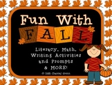 Fun with Fall Activities for 2nd-4th Graders; Math, Writing, Grammar Fun!