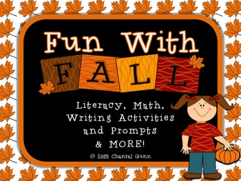 Fun with Fall Activities for 2nd-4th Graders; Math, Writin