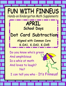 Fun with Finneus April Dot Card Subtraction
