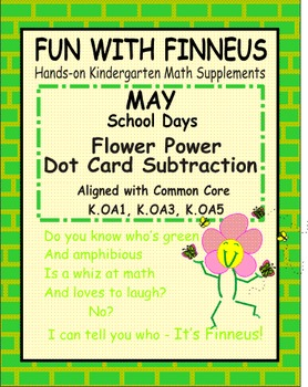 Fun with Finneus May Flower Power Dot Card Subtraction