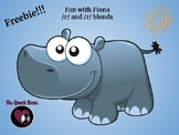Fun with Fiona the Hippo - /r/ and /r/ blends FREEBIE!!!