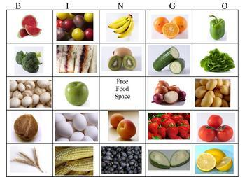 Food Bingo Game and Activities- Cooking with Kids
