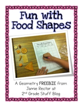Fun with Food Shapes and Geometry FREEBIE   Common Core-Aligned