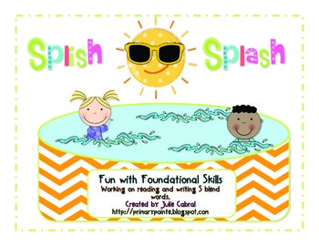 Fun with Foundational Skills:  Splish-Splash S Blends