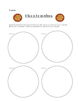 Fun with Fraction Pizzas!