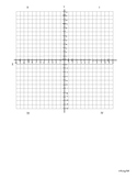 Coordinate Plane Template with Circle Page