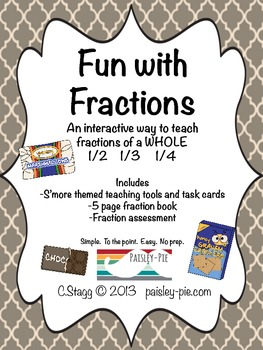 MATH: Fun with Fractions- A Simple, Interactive way to teach 1/2, 1/4, 1/3