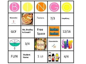 Fun with Fractions - BINGO!