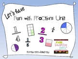 Fun with Fractions Math Unit
