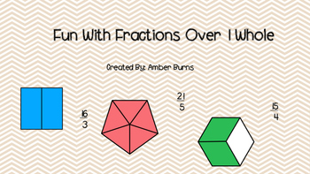 Fun with Fractions Over 1 Whole