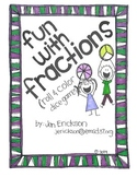 Fun with Fractions (Roll and Color Dice Games)