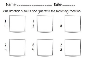 Fun with Fractions:  flashcards, cut and paste, fill in the blank