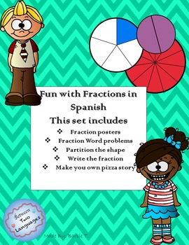 Fun with Fractions in Spanish!! (Mini Book)
