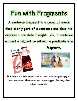 Fun with Fragments and Advertisements