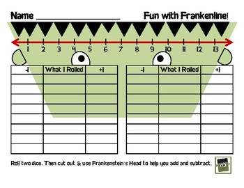 Fun with Frankenline: Plus or Minus 1 Activity