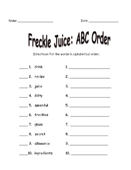 Fun with Freckle Juice