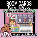 Fun with Froyo Articulation - Boom Cards - B (Initial, Med