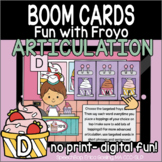 Fun with Froyo Articulation - Boom Cards - D (Initial, Med