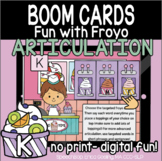Fun with Froyo Articulation - Boom Cards - K