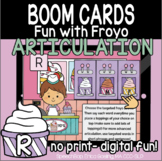 Fun with Froyo Articulation - Boom Cards - R (Initial, Med