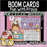 Fun with Froyo Articulation - Boom Cards - T (Initial, Med