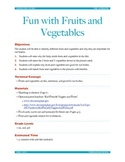 Fun with Fruits and Vegetables