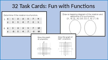 Fun with Functions Task Cards