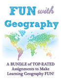 Fun with Geography Bundle of Top-Rated Social Studies Assignments