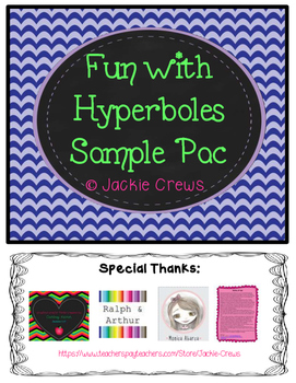 Fun with Hyperboles Freebie