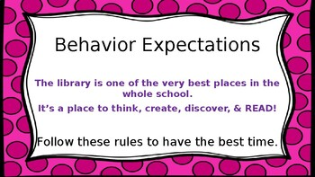 Fun with Library Orientation PowerPoint & Student Answer Cards