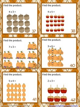 Fun with Math Basic Multiplication Center Task Cards Common Core Inspired