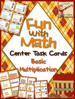 Fun with Math Basic Multiplication Center Task Cards Commo