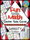 Fun with Math Center Task Cards Measurement Capacity Customary and Metric