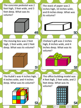 Fun with Math Center Task Cards Solids and Nets Common Core Inspired