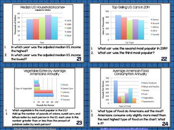 Fun with Math Data and Graphs Center Task Cards Common Core Inspired