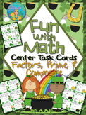 Factors, Prime, and Composite Numbers Center Task Cards Co