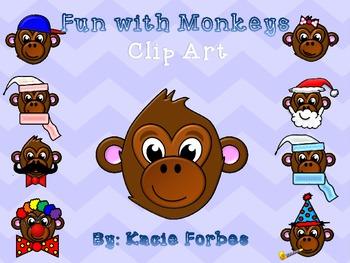 Fun with Monkeys Clip Art