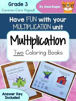 Fun with Multiplication: Coloring Book (3.OA.1, 3.OA.3, 3.OA.7, 4.OA.4)