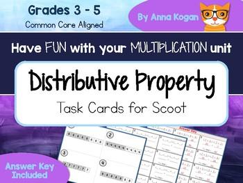 Fun with Multiplication: Distributive Property Cards (3.OA.5, 4.OA.4, 5.OA.1)