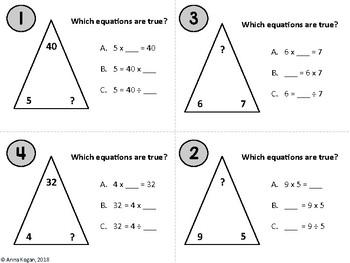 Fun with Multiplication & Division: Fact Families (3.OA.4, 3.OA.7, 4.OA.4)