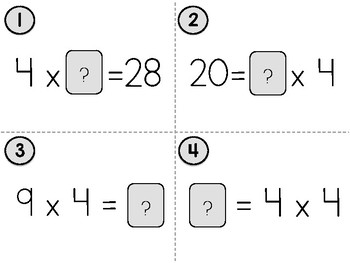 Fun with Multiplication: Unknown Factors (3.OA.4, 4.OA.4)